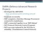 darpa defence advanced research project