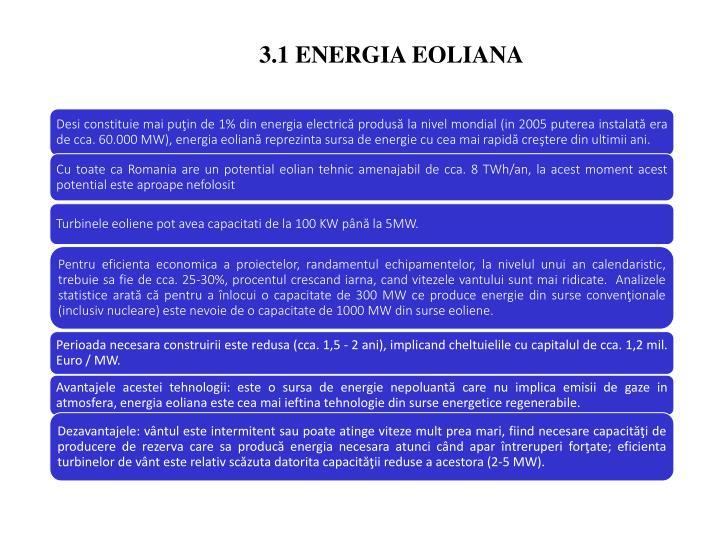 3.1 ENERGIA EOLIANA