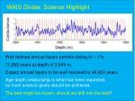 wais divide science highlight