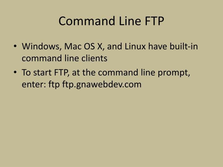 Command Line FTP