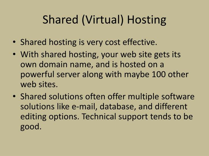 Shared (Virtual) Hosting