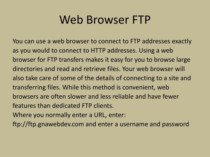 Web Browser FTP