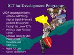 ict for development programme