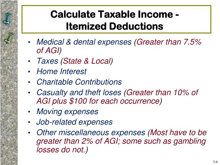 Calculate Taxable Income -