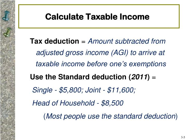 Calculate Taxable Income