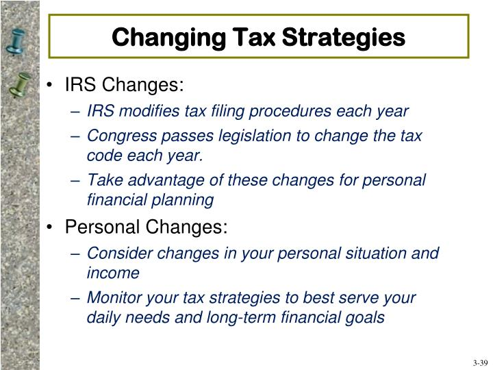Changing Tax Strategies