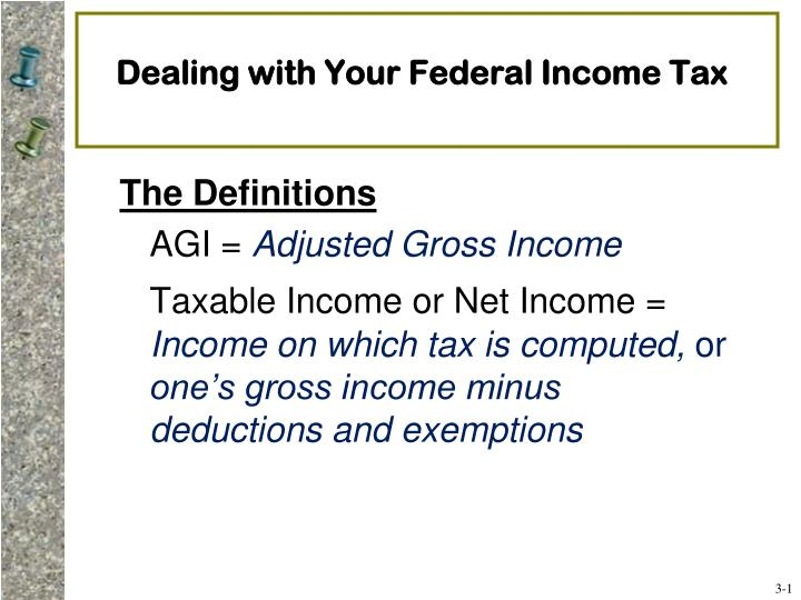 Dealing with your federal income tax
