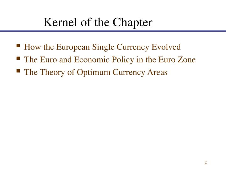 Kernel of the chapter