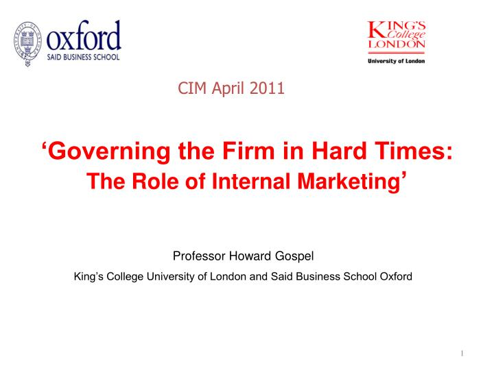 the role of internal marketing and