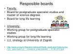 resposible boards