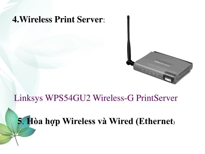 4.Wireless Print Server