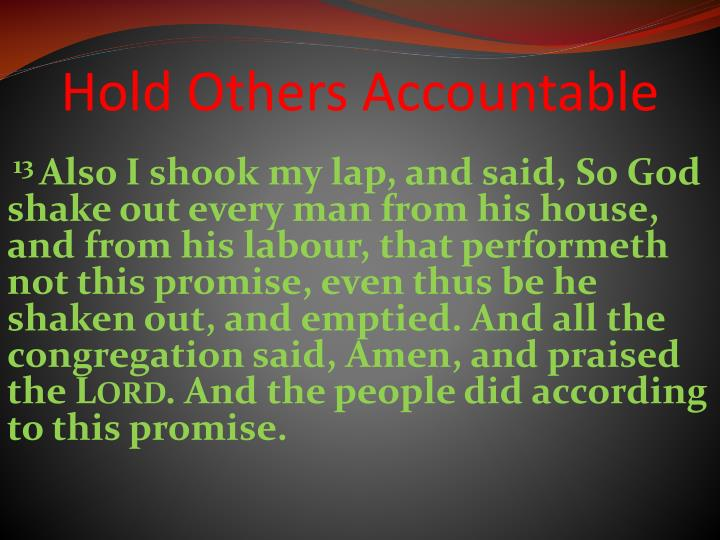 Hold Others Accountable