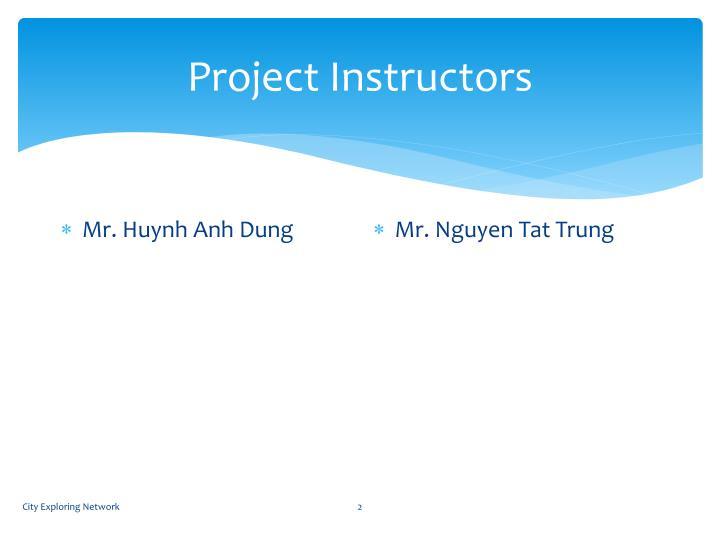 Project instructors