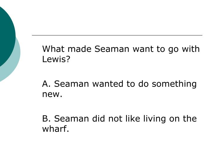 What made Seaman want to go with Lewis?