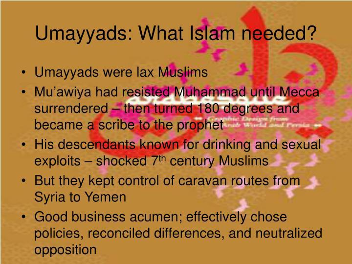 Umayyads: What Islam needed?