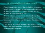 air masses in north america contd