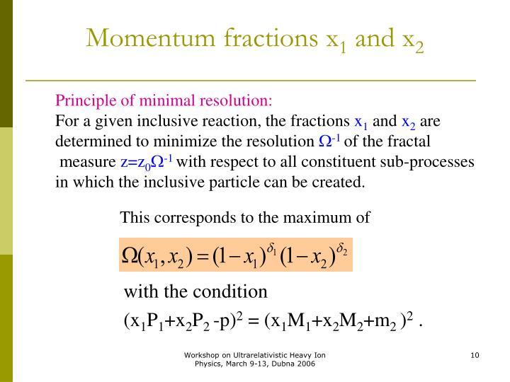 Momentum fractions x