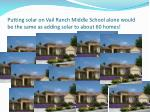 putting solar on vail ranch middle school alone would be the same as adding solar to about 60 homes