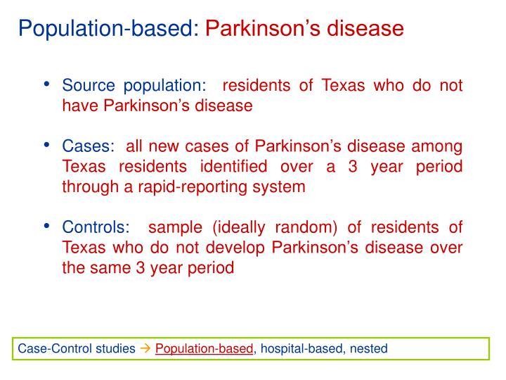 Population-based: