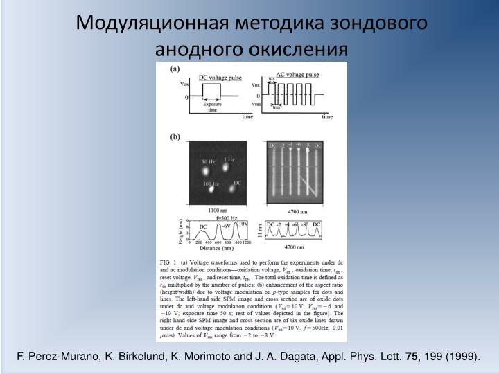 Модуляционная методика зондового анодного окисления