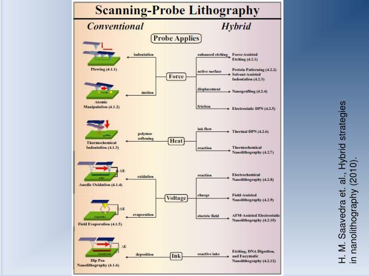H. M. Saavedra et. al., Hybrid strategies in nanolithography (2010).