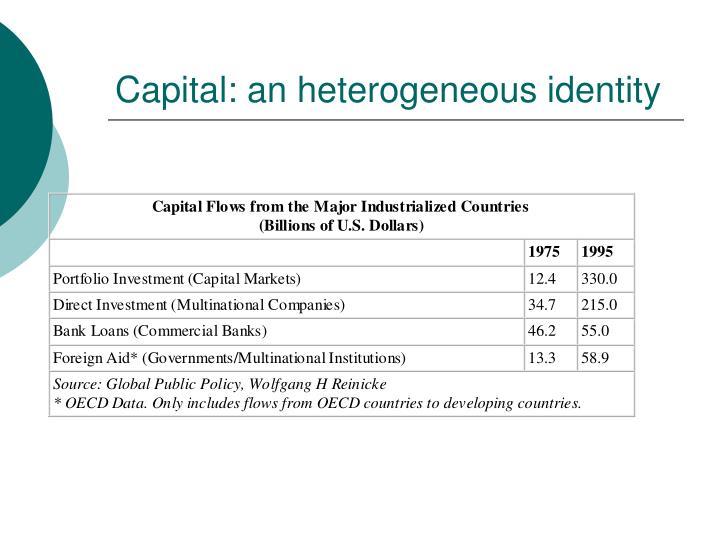 Capital: an heterogeneous identity