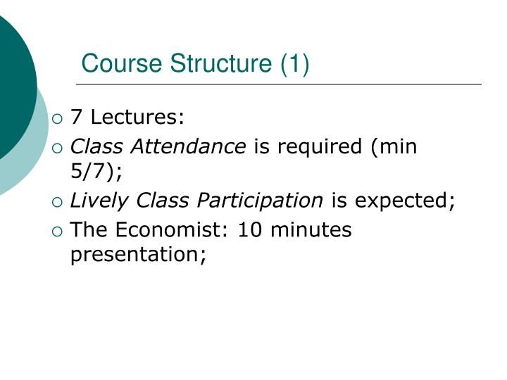 Course structure 1