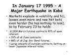 in january 17 1995 a major earthquake in kobe