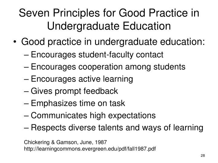 Seven Principles for Good Practice in Undergraduate Education