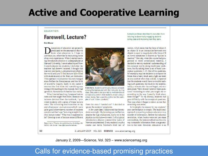 Active and Cooperative Learning