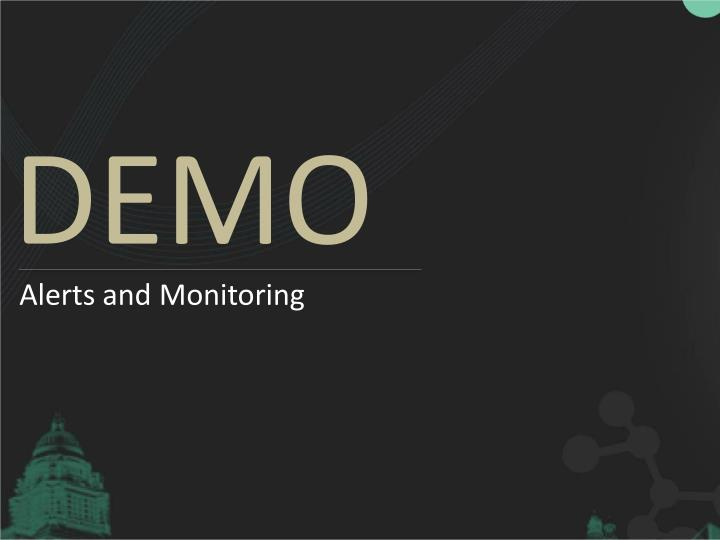 Alerts and Monitoring