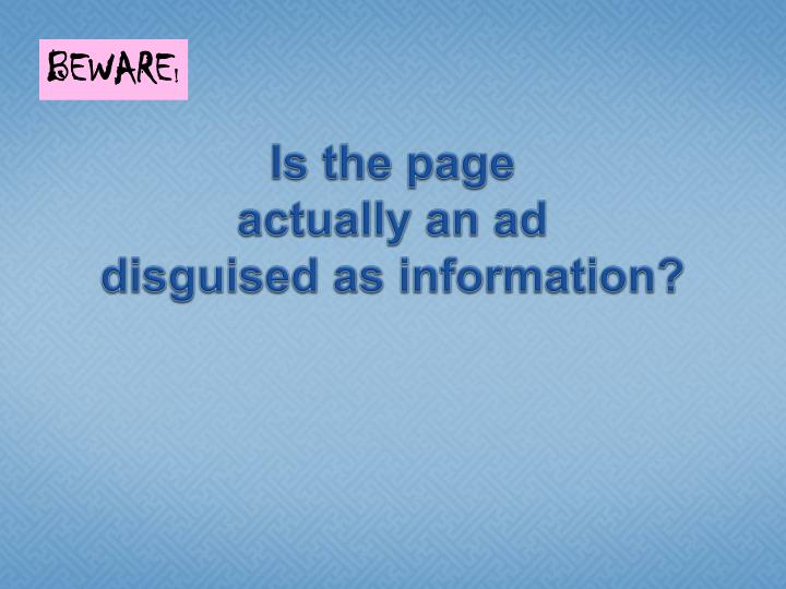 Is the page