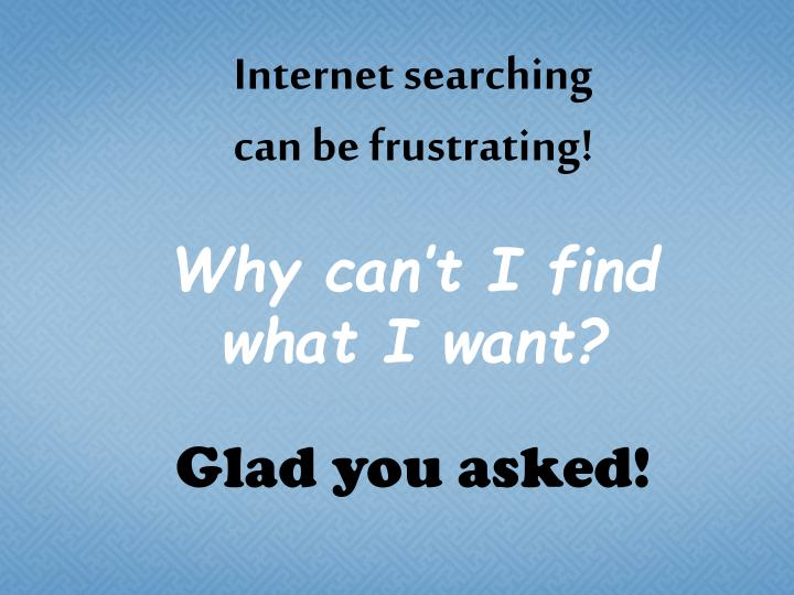 Internet searching