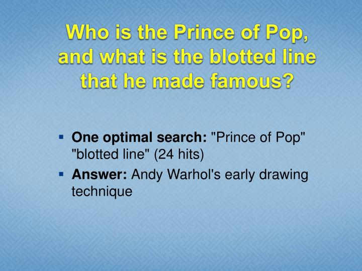 Who is the Prince of Pop,