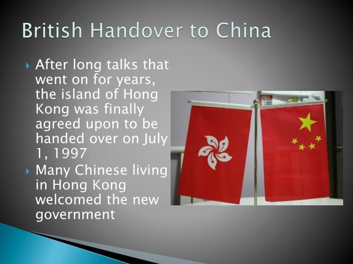 British Handover to China