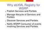 why ebxml registry for wsrp
