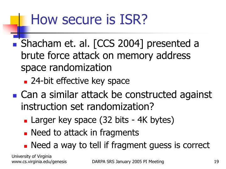 How secure is ISR?