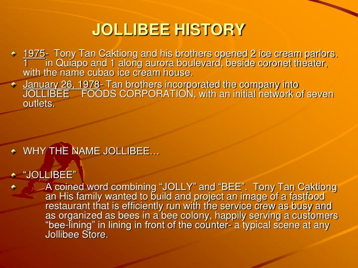 training on jollibee Jollibee group foundation, inc is the the farmers are undergoing training to become suppliers of institutional markets jollibee group foundation shared jollibee.