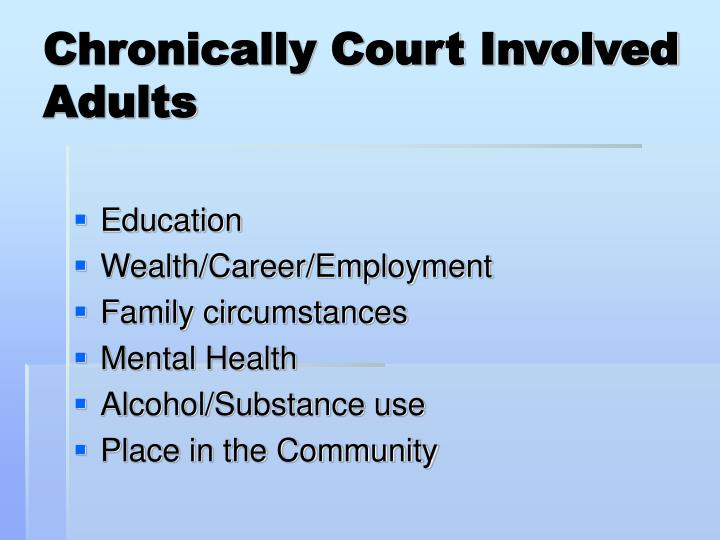 Chronically Court Involved Adults