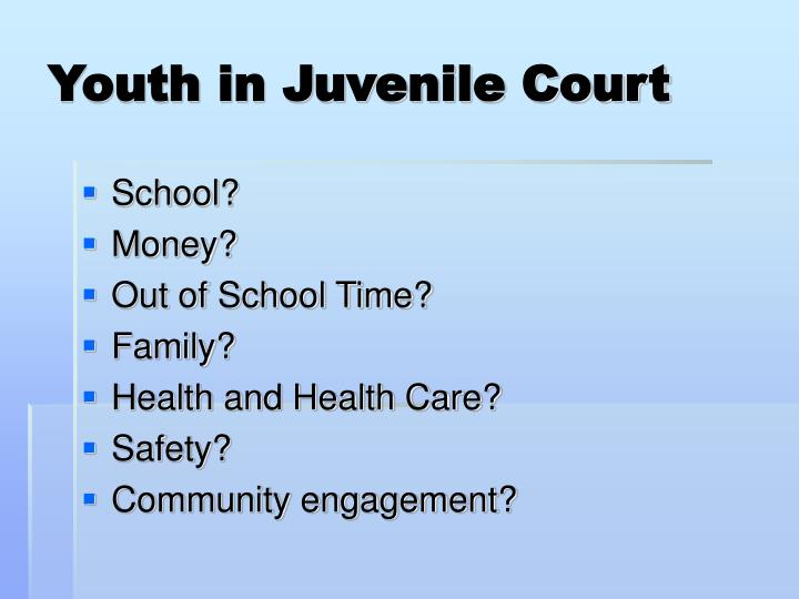 Youth in Juvenile Court