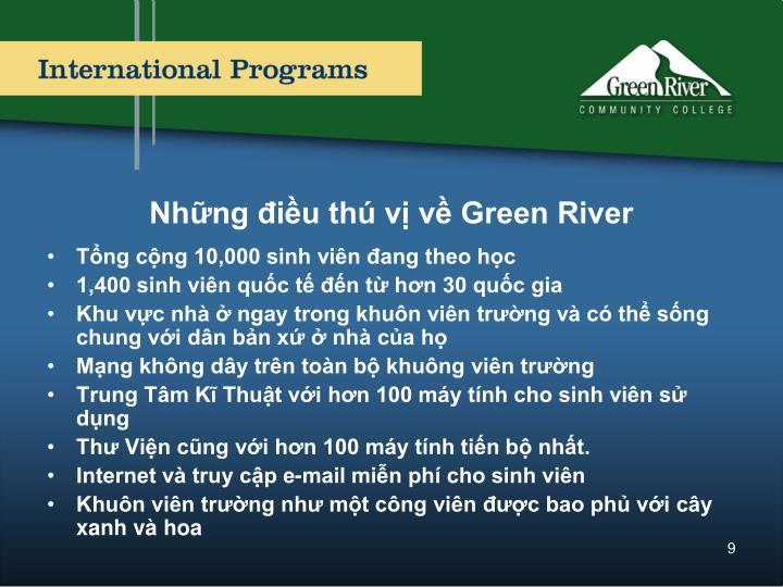 Những điều thú vị về Green River