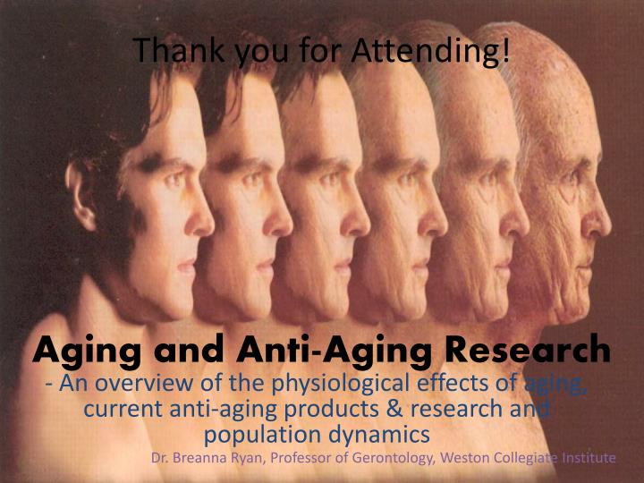 aging and anti aging research n.