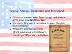 border states delaware and maryland