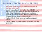 the battle of first bull run july 21 1861