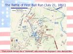 the battle of first bull run july 21 18612