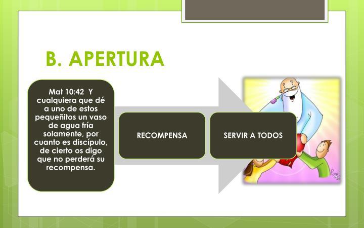 B. APERTURA