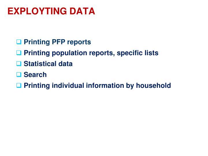 EXPLOYTING DATA