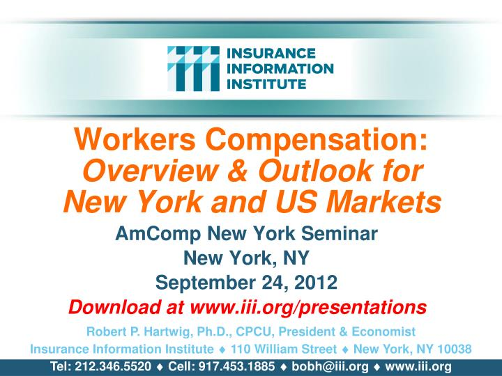 workers compensation overview outlook for new york and us markets n.