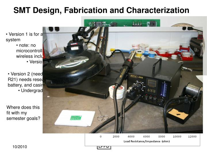 SMT Design, Fabrication and Characterization