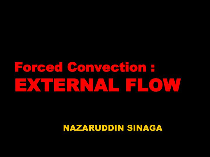 forced convection external flow n.